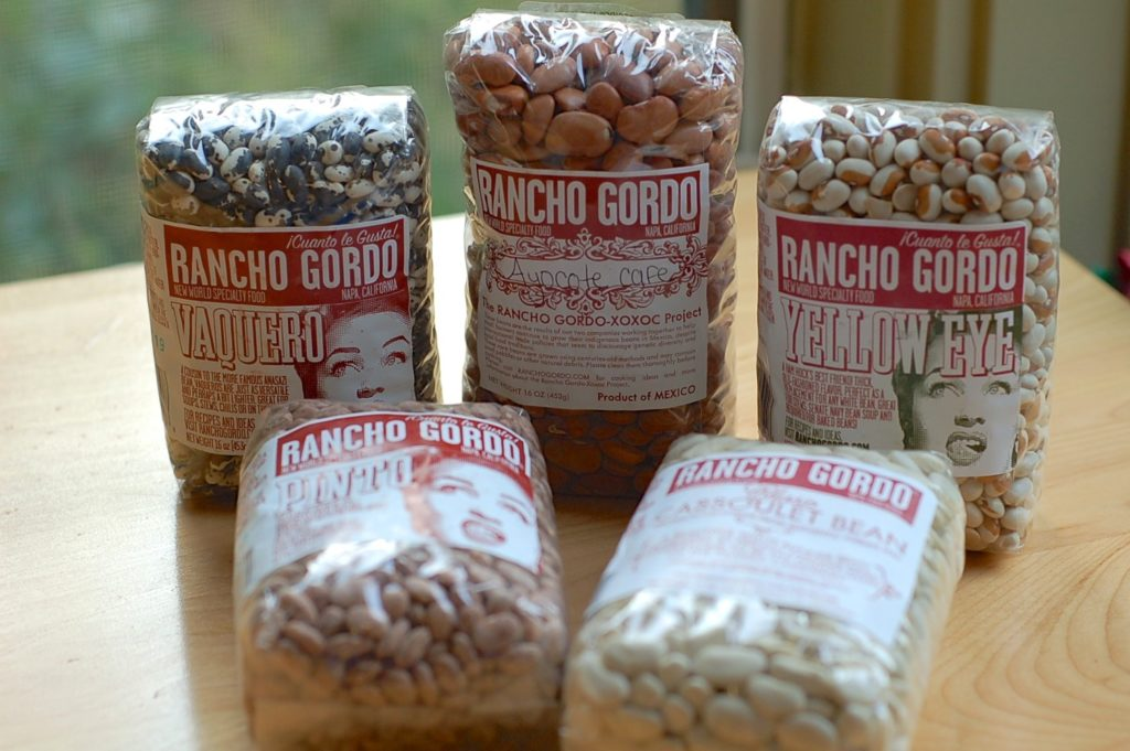 Five bags of Rancho Gordo beans