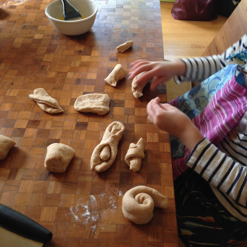 Bread-baking playdate