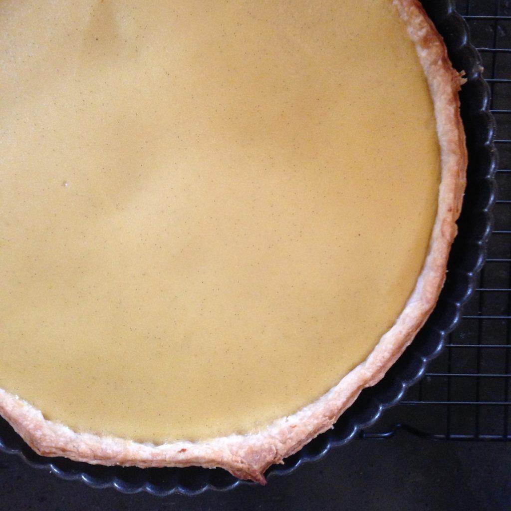 Grapefruit vanilla curd tart