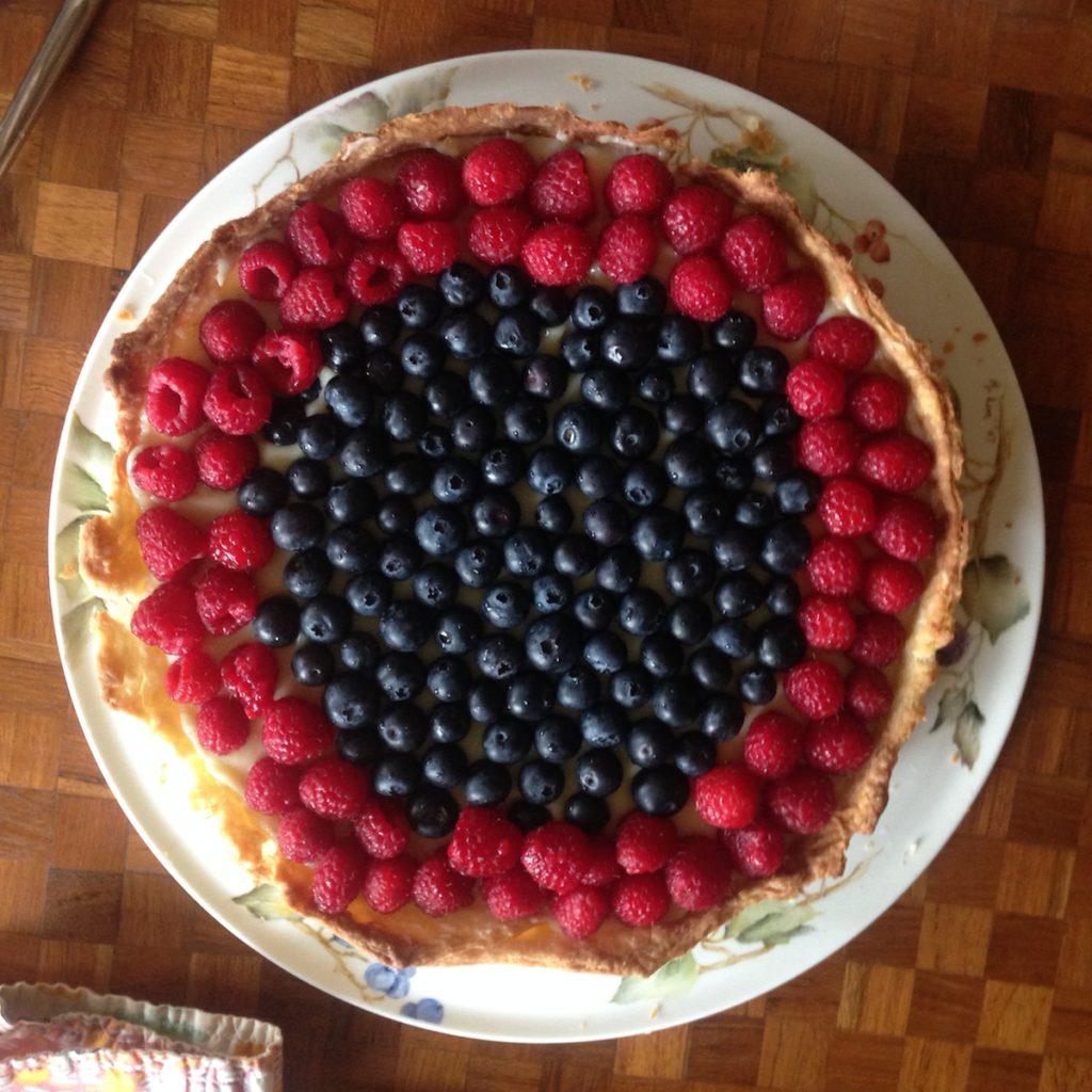 Berry creme patissiere tart