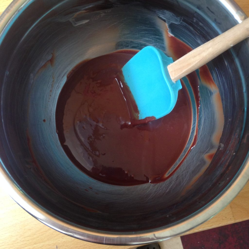 Chocolate ganache cooling