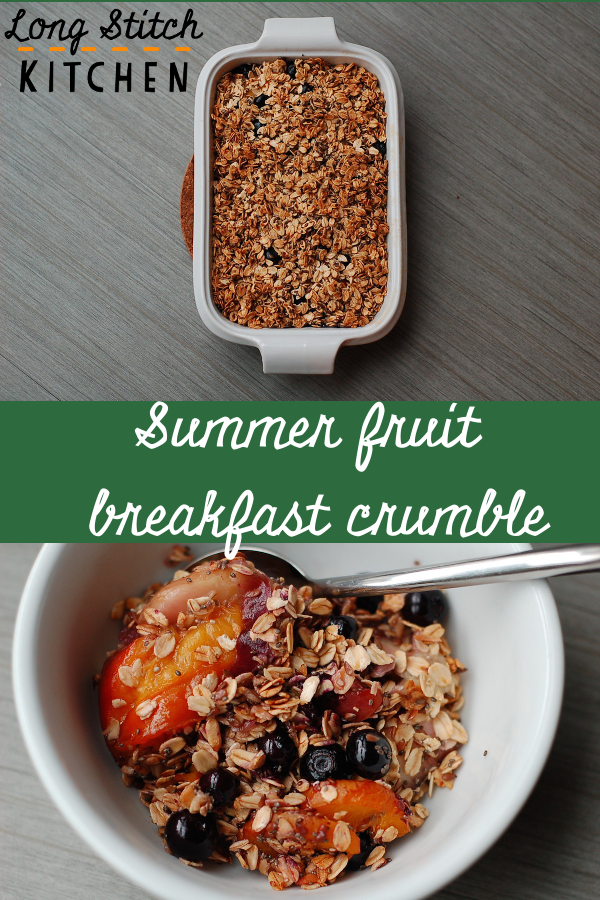 Summer fruit breakfast crumble pin