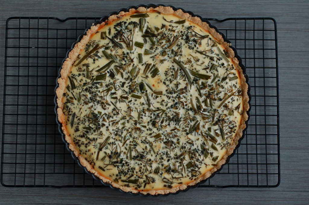 baked broccolini quiche