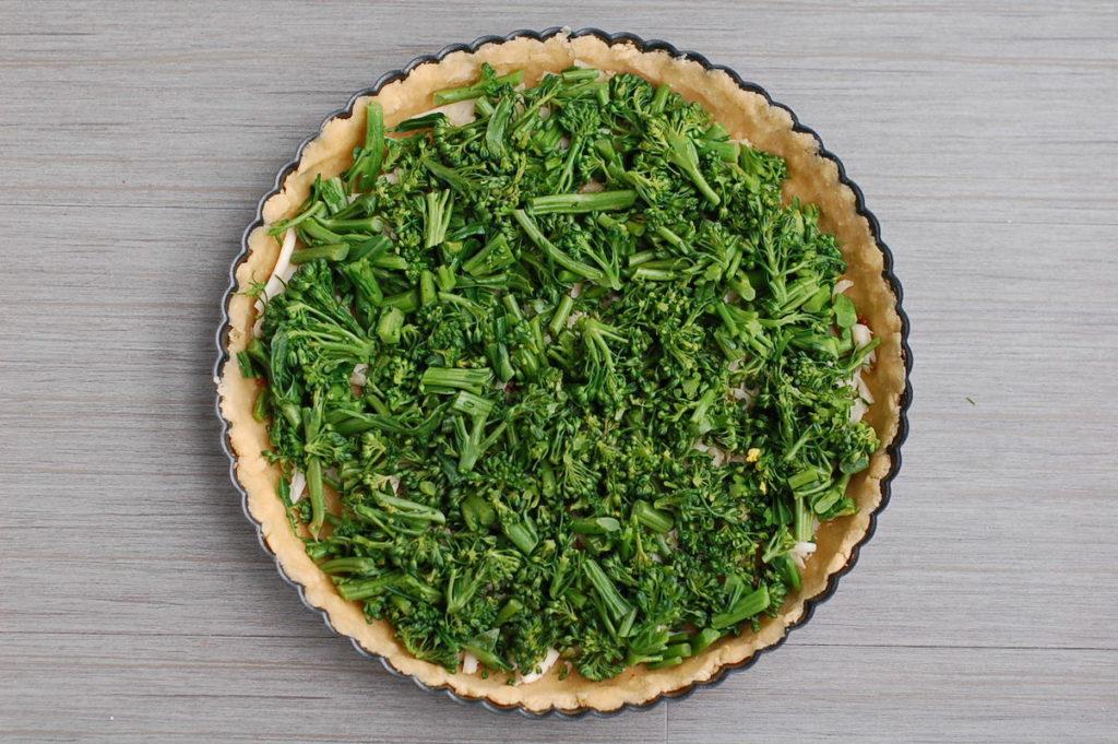unbaked no custard broccoli quiche