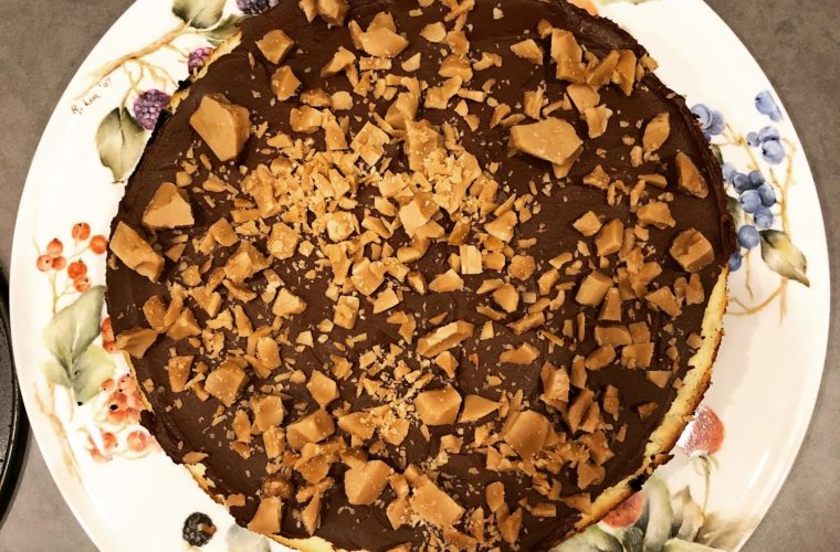 Chocolate toffee cheesecake: a birthday dream